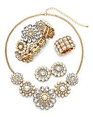 4 Piece Pearl Jewellery Set