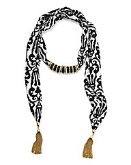 Charm Scarf Necklace