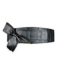 Black Chunky Bow Waist Belt