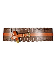 Wide Laser Cut Waist Belt