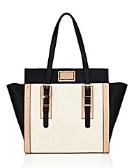 Lipsy Double Buckle Winged Tote Bag