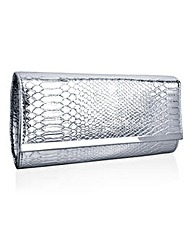 Together Silver Snake Clutch Bag