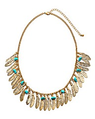 Gold Leaf Statement Necklace