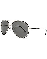 Police Metal Detail Aviator Sunglasses