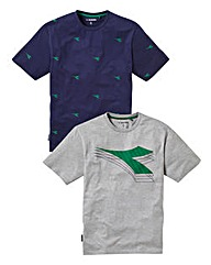 Diadora Pack of 2 T-Shirts