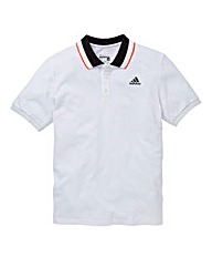 Adidas Contrast Stripe Collar Polo