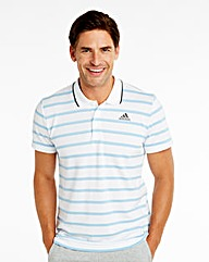 Adidas Stripe Polo Shirt