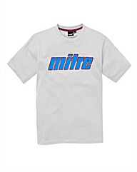 Mitre White Graphic T-Shirt