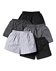 Southbay Pack Of 5 Woven Boxers