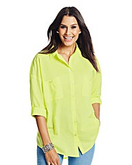 Slouchy Boyfriend Shirt 33in