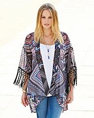 Fringe Sleeve Kimono