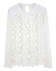 Peter Pan Collar Lace Top