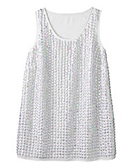 Simply Be Sequin Vest Top