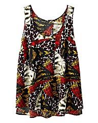 Animal Print Swing Vest