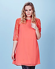 Swing Tunic With Lace Sleeve