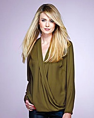 Simply Be Wrap Front Blouse