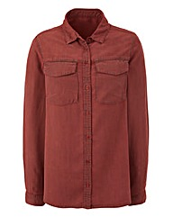 Soft Denim Utility Shirt