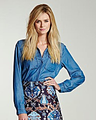 Soft Denim Blue Utility Shirt