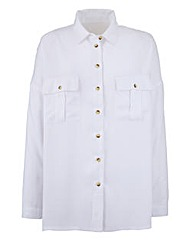 White Oversized Boyfriend Shirt