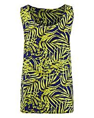 Palm Print Woven Vest