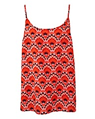 Red Print Camisole Vest