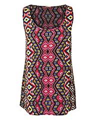 Tribal Print Woven Vest