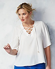LACE UP SWING BLOUSE