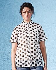 Boxy Eyelet Shirt