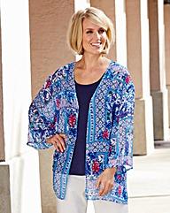 Blue Print Kimono