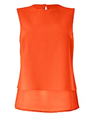 Sleeveless Longline Shell Top