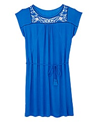 Embroidered Detail Tie Tunic