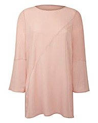 Blush Bell-Sleeve Tunic