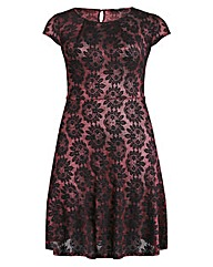 Koko Embossed Lace Skater Dress