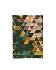 Mosaic Prism Carved Rug