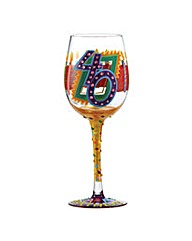 Lolita 40th Birthday Standard Wine Glass