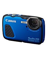 Canon PowerShot D30 Camera Blue