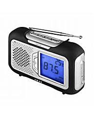 Akai Portable AM/FM Radio with Large LCD