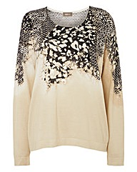 Gelco Printed Fine Knit Jumper