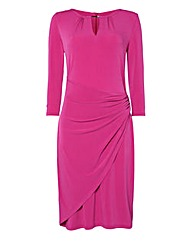 Gina Bacconi Draped Stretch Jersey Dress