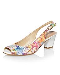 Capollini Floral Print Slingback Shoes