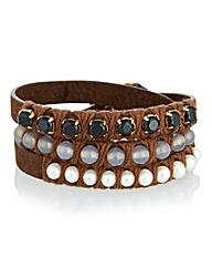 Sence Leather Beaded Bracelet