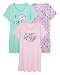 Pretty Secrets 3 Pack Nightdresses L46in