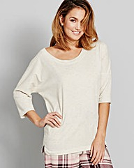 Pretty Secrets Jersey Marl Pyjama Top