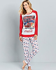 Coca Cola Happy Holidays Pyjama Set
