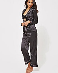 Ann Summers Black Satin PJ Set