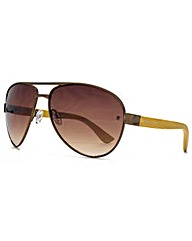 Fenchurch Bamboo Aviator Sunglasses