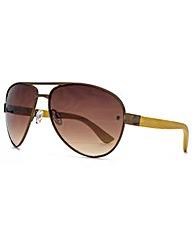 Fenchurch Bamboo Aviator Sunglasses