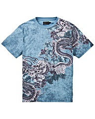 Label J Dragon Print Tee Long