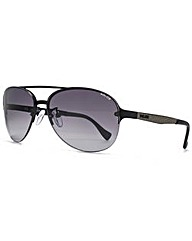 Police Rimless Aviator Sunglasses