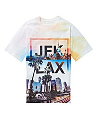 Label J JFK LAX Print Tee